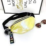 Bolso de Cintura con Estampado de Lentejuelas Frescas para Damas 2020 Moda niñas Bolso de Cintura con un Hombro Bolso de Cintura para niños Bolso de teléfono móvil con Lentejuelas - Amarillo