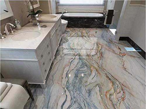 Benutzerdefinierte foto boden tapete 3D marmor wand wohnzimmer bad PVC boden fliesen tapete slip wear 350 * 245 cm