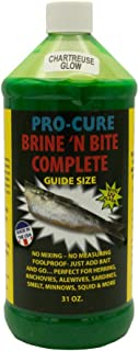 Pro-Cure Brine 'N Bite Complete Bait Brine, 31 Ounce, Chartreuse Glow