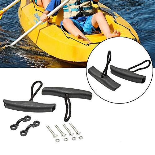 JQM Universal Kayak Pull Handle, Kajak Zubehör T-Handle mit geflochtener Schnur für Schlauchboot Kanu Kayak Pull Handle Ersatzzubehör (Size : 1 Set)