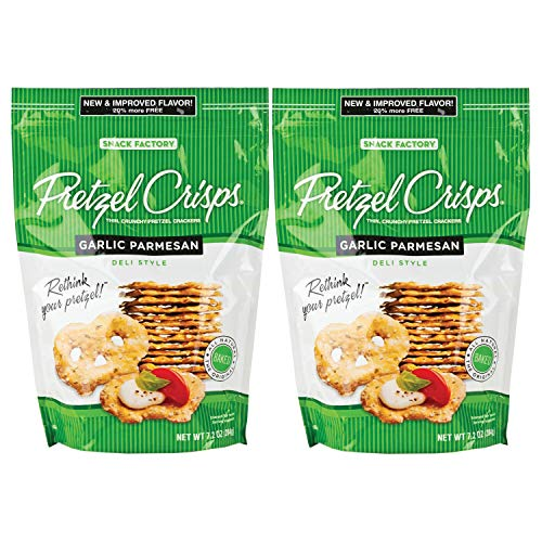 Snack Factory Pretzel Crisps, Garlic Parmesan, 7.2 Ounce (2 pack)