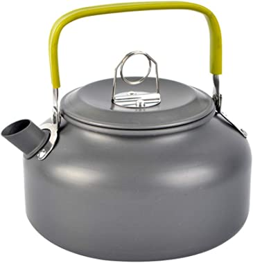 Patgoal Camping Kettle Camp Tea Kettle Camping Coffee Pot Aluminum 27FL OZ Outdoor Hiking Kettle Camping Gear Compact and Lig