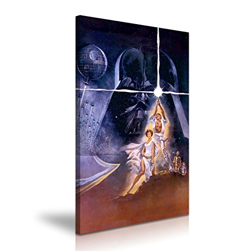 Star Wars a New Hope Póster de la película lienzo impresión 50cmx76cm