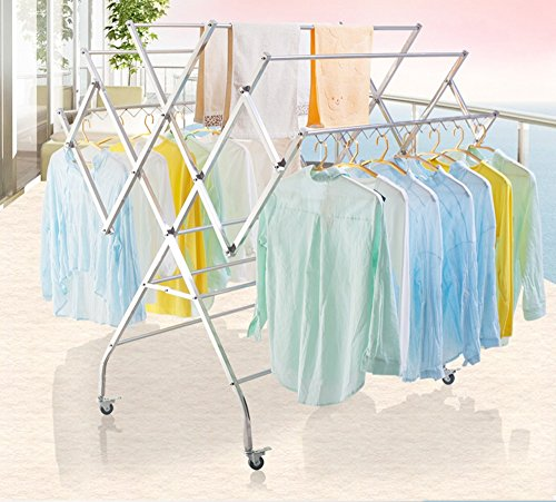 Große Kleiderständer, Edelstahl Sonnencreme Rahmen, großer Balkon mobile Trockner Kleiderbügel, Villa Garten Mantel