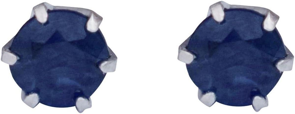 Platinum Sapphire Earrings (pt900)