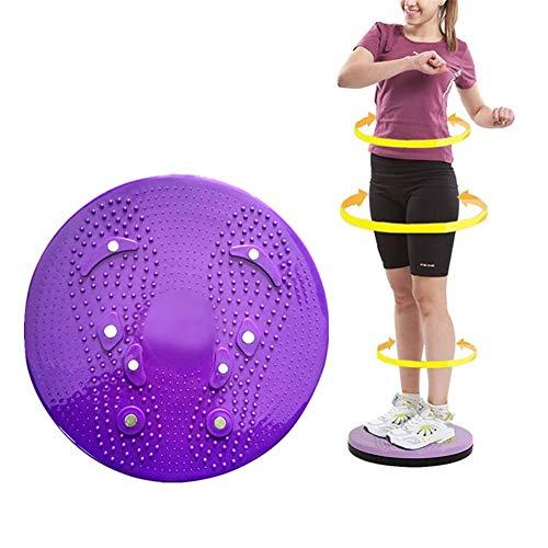 Cojin Equilibrio Tabla Equilibrio La Bola del Balance de Entrenador La Estabilidad Wobble Board Disco de torsión de la Cintura de Purple,Freesize