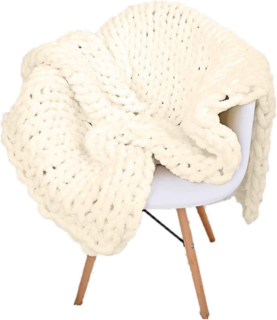 QWERTYUKJ Chunky Knit Blanket Hand Wool Max 42% OFF Super Made Throw Merino Max 67% OFF