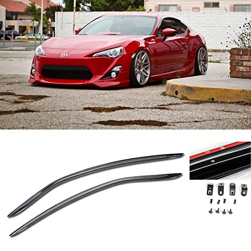 VXMOTOR for 2013-Up Toyota Scion FRS 2Dr Coupe Clip On Window Visor Rain Guard Shield Deflector JDM