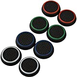 4 Pair / 8 Pcs Replacement Silicone Thumb Grip Stick Analog Joystick Cap Cover for Ps3 / Ps4 / Xbox 360 / Xbox One Game Controllers Black
