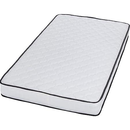 アイリスプラザ マットレス ポケットコイル 極厚20cm コイル495個 通気性 高耐久性 柔らかなウレタンクッション 体圧分散 圧縮梱包 ホワイトブラック シングル PKMTN-S