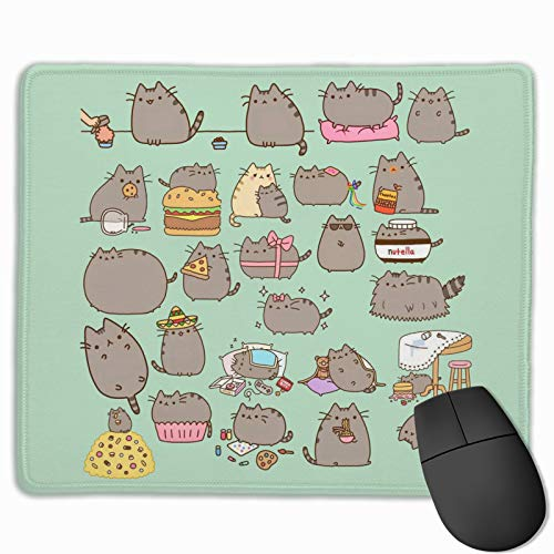 Pusheen Mouse Pad for Gaming Office 12x10 Inches Office Mousepad