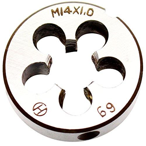 14mm X 1 Metric Left Hand Round Die, Machine Thread Die M14 X 1.0mm Pitch