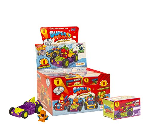 SuperZings - Serie 1 - Rivals of Kaboom: Display con 12 Supercar (PSZ1D612IN06), Incluye 1 Figura en cada Vehículo