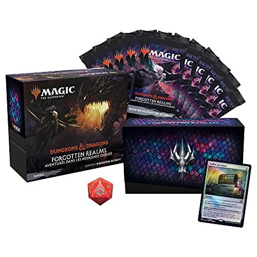 Magic The Gathering- Bundle Forgotten Realms : Aventures dans Les Royaumes Oubliés, 10 boosters de Draft & Accessoires, C87481010