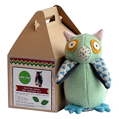 Cate & Levi - Stuffed Animal Making Kit - Unique Child Gift - Machine Washable (Owl)
