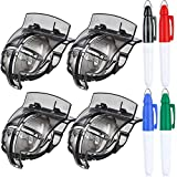 WILLBOND 4 Pack Golf Ball Line Liner Ball Marking Tool Alignment Tool and 4 Pieces Golf Ball Marker Pen (Black)