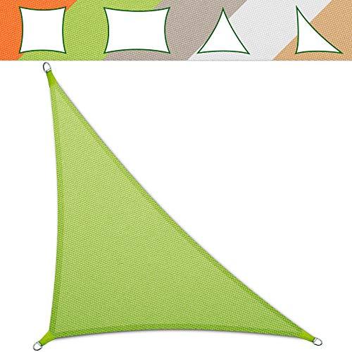 casa pura® Sonnensegel wasserabweisend imprägniert | Testnote 1.4 | Dreieck | UV Schutz Größen (hellgrün, 5 x 5 x 7 m)