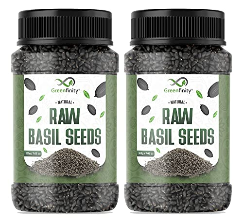 GreenFinity: Basil Seeds - 400g | 100% Hygienic | Pack of 2 | [Free Shipping].