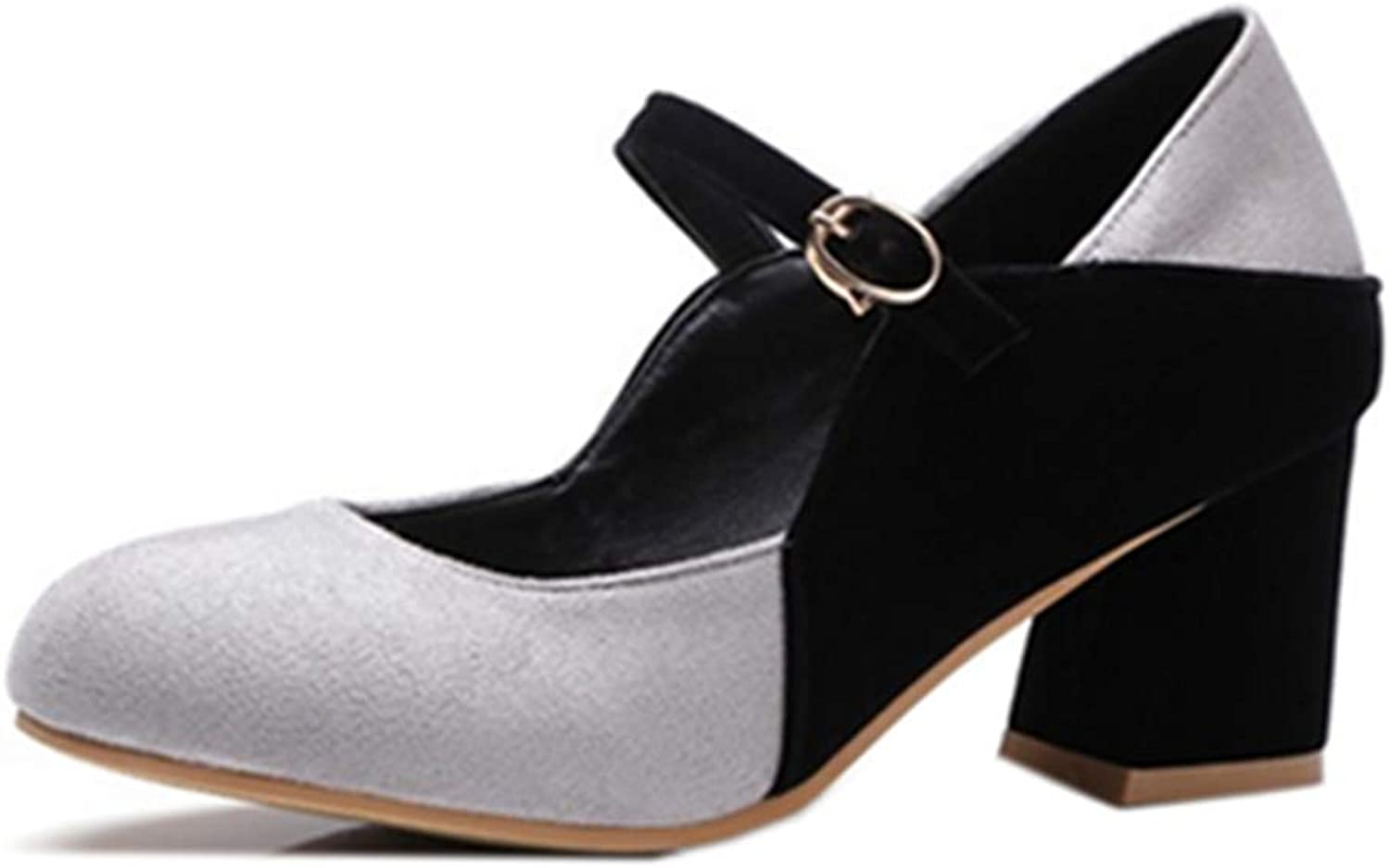 Mo Joc Women Marry Jane shoes with Chunky Heel Black
