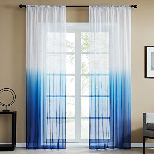 Bumpy Road Gradient Tulle Sheer Vorhänge für Wohnzimmer Schlafzimmer Küche Transparente Vorhänge Home Decor Fenster Behandlung