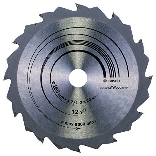 Bosch Professional Kreissägeblatt Speedline Wood, 165 x 20/16 x 1,7 mm, 12, 2608642600