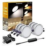 Onforu LED Under Cabinet Lighting Kit, Dimmable LED Puck Lights, 3 Adjustable...