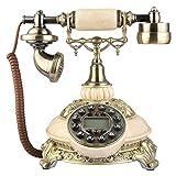 SXRDZ Home Corded Anticique Landline, teléfono Retro con anticipación (25 * 21 * 24 cm / 9.84 * 9.44 * 8.27 Pulgadas)