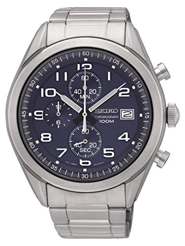 Seiko Herren Chronograph Quarz Uhr mit Edelstahl Armband SSB267P1