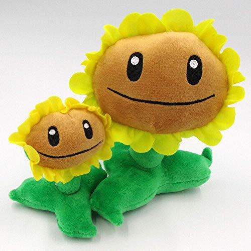 SSTOYS Plants vs Zombies Figuren Plüschbaby Spielzeug Gefüllte Weiche Puppen Weihnachten Set (Electric Blueberry Set) -Sonnenblumen Set