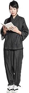 デニム 作務衣 レディース おしゃれ かっこいい かわいい 通年 和装 セットアップ サイズ 女性 さむえ オールシーズン 綿 コットン 和服 和装 作業着 部屋着 ルームウェア 柔らか 普段着 カジュアル ギフト プレゼント 敬老の日