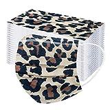 ZYUEER 𝐌𝐀𝐒𝐐𝐔𝐄 -Adulto de tres capas - Estampado de leopardo protector ejercicio cabeza seda ciclismo cuello elasticas grandes personalizada navidad