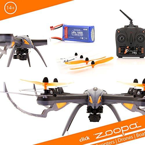zoopa CME Q 600 Mantis Movie Quadro-genial für Draussen 2,4GHz | Licht zu schaltbar | 360° Flip | 3 Geschwindigkeiten (ZQ0601) Quadrokopter