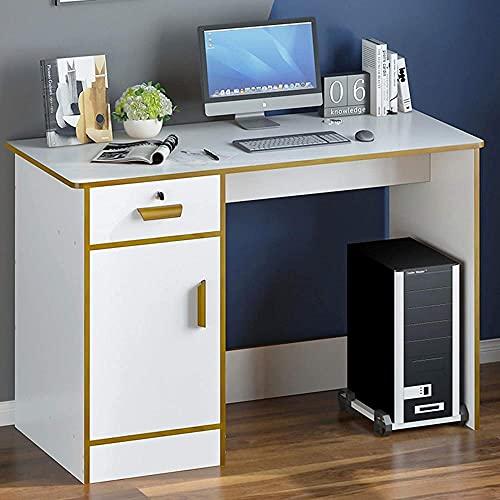 Escritorio de computadora simple para el hogar con Hutch moderno industrial oficina escritorio estación de trabajo resistente PC Gaming mesa de escritorio para dormitorios-A 39x20x30'-B_39x20x30'