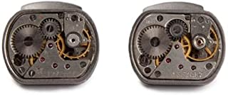Tateossian Mechanical Skeleton Movement Tonneau Shaped Cufflinks