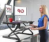 Yo-Yo DESK 90 (Schwarz) – Sitz Steh Schreibtisch...