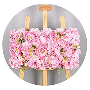 D-Star Luxury Wedding Decor Props Silk Peony Hydrangea Artificial Flower Wall Roman Pavilion Wedding Layout Road Lead Flower Row Arch,Pink