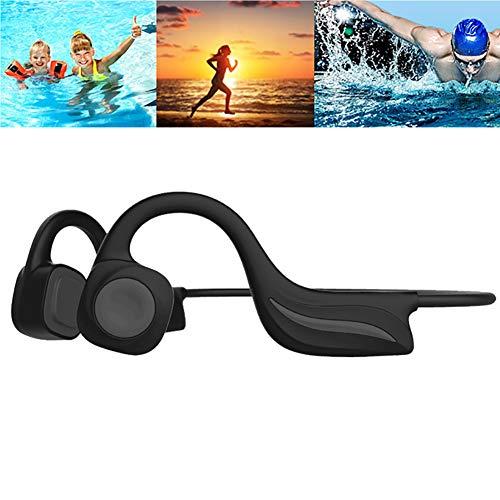 RSGK Auriculares Bluetooth con cable de hueso, memoria integrada de 8 GB, auriculares de natación IPX8, reproductor MP3 para correr en el gimnasio, buceo y surf