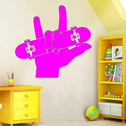 Ajcwhml Finger Skateboard Boarding wandkunst Aufkleber wandmalerei Wohnzimmer Sofa Hintergrund Dekoration zubehör 43 cm X 40 cm
