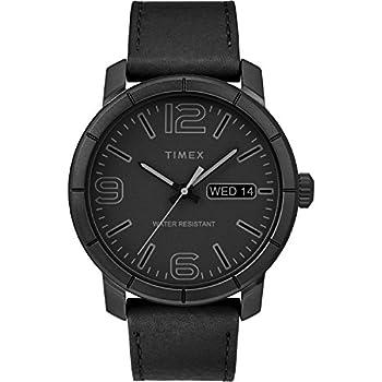 Timex Men s TW2R64300 Mod 44 Black Leather Strap Watch