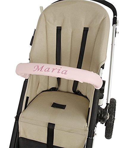 Funda barra seguridad para silla de paseo personalizada (Longitud 60 cm) tejido polipiel color a elegir