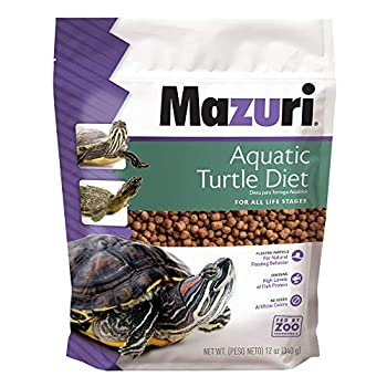 Mazuri   Nutritionally Complete Aquatic Turtle Food   Freshwater Formula - 12 Ounce  12 oz  Bag