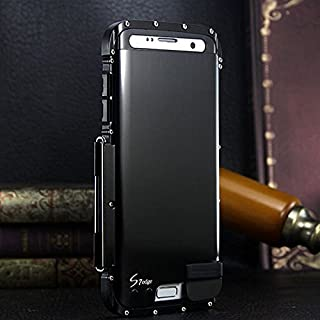 ARMOR KING Luxury Heavy Duty Metal Aluminum Shockproof Case Cover For Samsung Galaxy S7 Edge,Samsung Galaxy S7 Edge Case (Armor King Black)