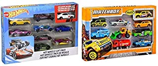 Hot Wheels 9-Car Gift Pack (Styles May Vary) AND Matchbox 9-Car Gift Pack (Styles May Vary)