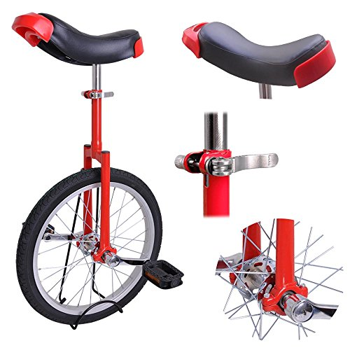 """AW Red 18"""" Inch Wheel Unicycle Leakproof Butyl Tire Wheel Cycling Outdoor Sports Fitness Exercise Health"""