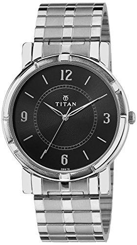 Titan Analog Black Dial Men's Watch-NK1639SM03