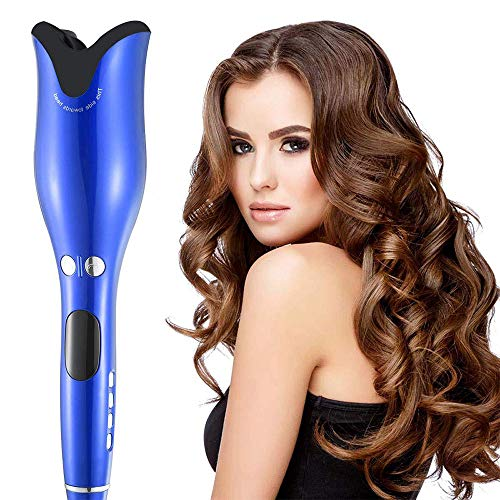 YOLANDEK Automatic Hair Curler Spin, LCD Display Adjustable Temperature Time Spiral 360° Rotating Gift for Her,The Best Professional Quality Results Ceramic Spray Curling Iron