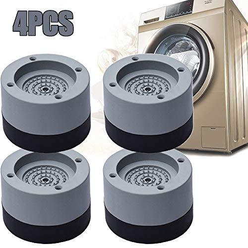 4 Piezas Almohadillas para pies de lavadora, Amortiguador de Vibraciones para Lavadoras, Almohadillas de Goma Antideslizantes, Almohadilla Universal antivibración para lavadora, Secadora refrigerador
