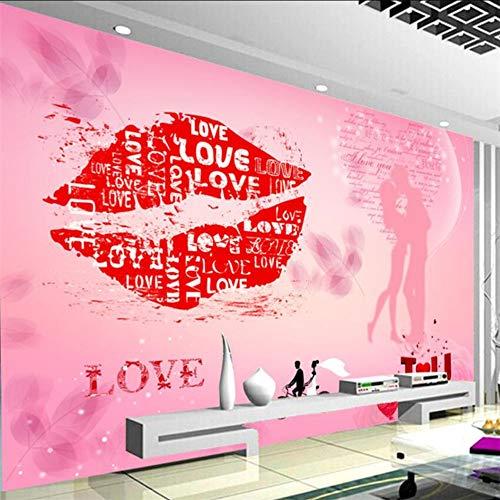 Pbbzl rode lippen, de staaf hotel-hema achtergrond muur gewoonte groot muur groen behang bereiden 350x250cm