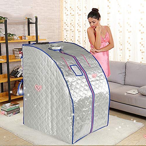 YIZHE Sauna de Infrarrojos 1000W Sauna Iinfrarroja Portable Terapéutica Caja de Sauna Infrared Sauna,sauna,Sauna inflable,Portátil,Sauna infrarroja Portable Una Persona para Desintoxicación(EU)