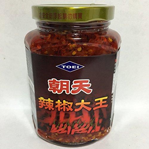 台湾辣椒大王 唐辛子具入りラー油 炒め物やラーメンに欠かせない 中華調味料 380g